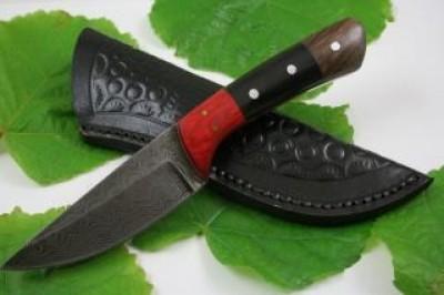 Damascus Hand Made Tang Pocket Knife