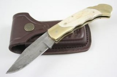 Camel Bone Damascus Steel Knife