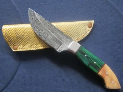 Custom Damascus Drop Point Knife