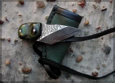 Handmade Damascus Kiridashi Knife