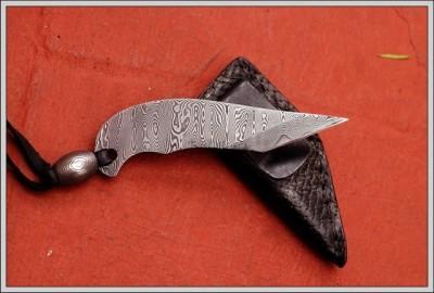 Kiridashi Cutter Damascus Knife