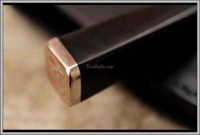 Damascus Steel Kitchen Knife handle
