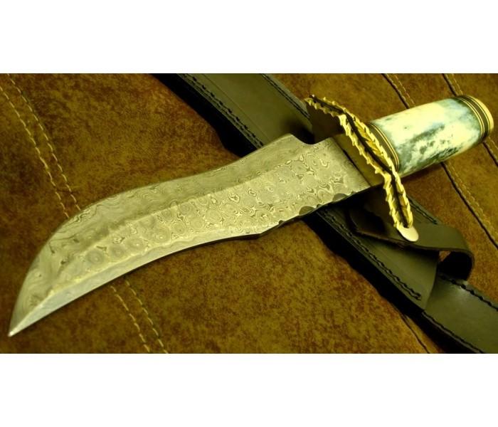 Damascus Hunting Knife full