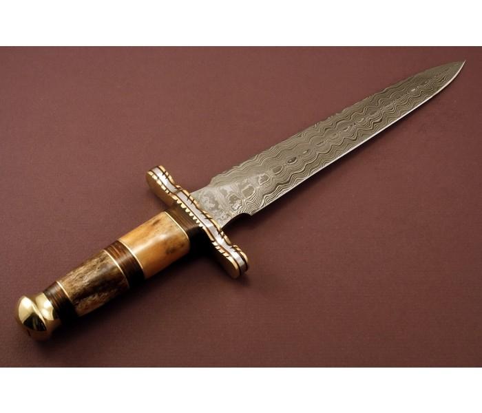 damascus carbon steel dagger 1