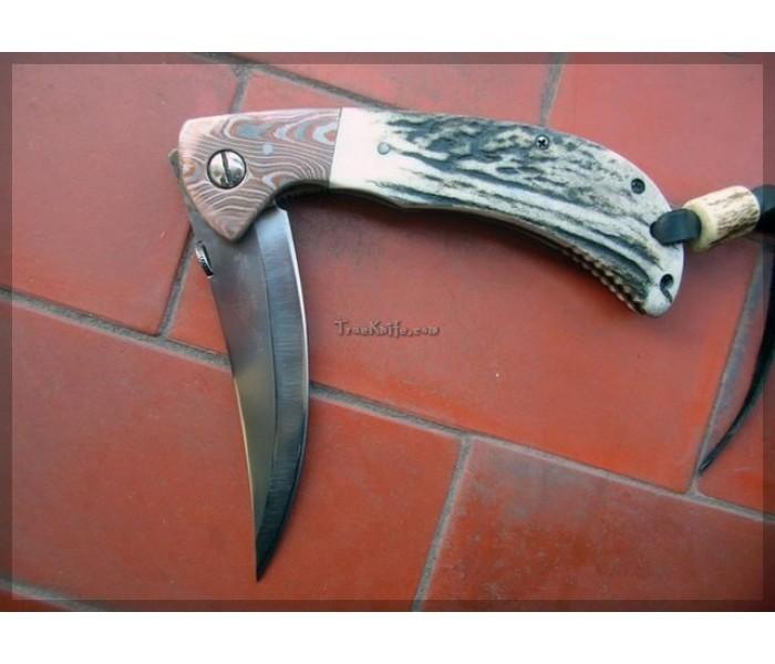 Persian Damascus Pocket Knife full