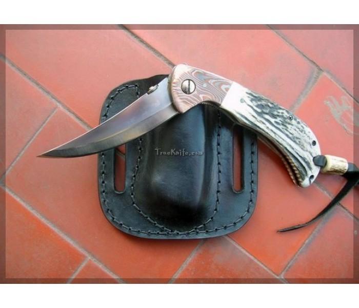 Persian Damascus Pocket Knife right